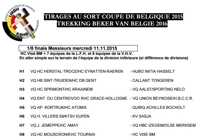 Tirage au sort de la coupe de belgique entente du centre - Tirage au sort coupe de la ligue 2015 ...